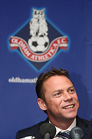 Fotball<br /> England<br /> 09.06.2010<br /> Foto: Colorsport/Digitalsport<br /> NORWAY ONLY<br /> <br /> Football - Paul Dickov signs as Oldham manager<br /> Paul Dickov seen during the press conference at Boundary Park)