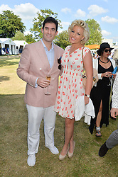 ZAFAR RUSHDIE and NATALIE COYLE at the Summer Solstice Party during the Boodles Tennis event hosted by Beulah London and Taylor Morris at Stoke Park, Park Road, Stoke Poges, Buckinghamshire on 21st June 2014.