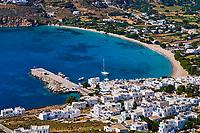 Grece, les Cyclades, ile de Amorgos, Aigiali // Greece, Cyclades islands, Amorgos, Aigiali bay