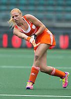 DEN HAAG - MARGOT VAN GEFFEN.Nederland speelt oefenwedstrijd tegen USA in het Kyocera Stadion. COPYRIGHT KOEN SUYK