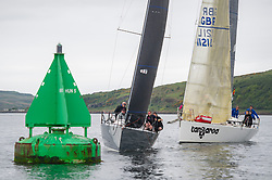 Day1 Light airs for Class 2 off Largs.<br /> <br /> Hijacker, Ker 32, 732 R with Tangaroa, Pronavia 38, 1121 L <br /> <br /> The Scottish Series, hosted by the Clyde Cruising Club is an annual series of races for sailing yachts held each spring. Normally held in Loch Fyne the event moved to three Clyde locations due to current restrictions. <br /> <br /> Light winds did not deter the racing taking place at East Patch, Inverkip and off Largs over the bank holiday weekend 28-30 May. <br /> <br /> Image Credit : Marc Turner / CCC