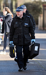 © Licensed to London News Pictures. 04/04/2018. London, UK. A specialist police team continues to search on Chalgrove Road in Tottenham, north London where 17 year old Tanesha Melbourne was shot dead. A recent spree of killings in the capital has taken the murder toll for the year so far to 48. Photo credit: Ben Cawthra/LNP