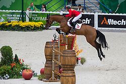Stefanie Bistan, (AUT), Bogegaardens Apollonia - Team & Individual Competition Jumping Speed - Alltech FEI World Equestrian Games™ 2014 - Normandy, France.<br /> © Hippo Foto Team - Leanjo De Koster<br /> 02-09-14