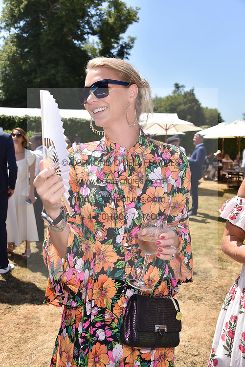 Jodie Kidd at the 'Cartier Style et Luxe' enclosure during the Goodwood Festival of Speed, Goodwood House, West Sussex, England. 15 July 2018.