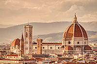 """The Cathedral di Santa Maria del Fiore (in English """"Cathedral of Saint Mary of the Flowers"""") is the main church of Florence, Italy. Il Duomo di Firenze, as it is ordinarily called, was begun in 1296 in the Gothic style with the design of Arnolfo di Cambio and completed structurally in 1436 with the dome engineered by Filippo Brunelleschi."""