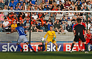 Sky bet branding behind the goal during the EFL Sky Bet League 1 match between Rochdale and Charlton Athletic at Spotland, Rochdale, England on 5 May 2018. Picture by Paul Thompson.