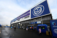 General view outside of Fratton Park Stadium ahead of the EFL Sky Bet League 1 match between Portsmouth and Ipswich Town at Fratton Park, Portsmouth, England on 21 December 2019.