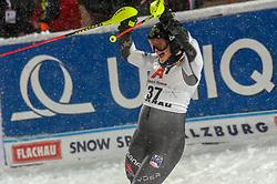 08.01.2019, Hermann Maier Weltcupstrecke, Flachau, AUT, FIS Weltcup Ski Alpin, Slalom, Damen, 2. Lauf, im Bild Paula Moltzan (USA) // Paula Moltzan of the USA reacts after her 2nd run of ladie's Slalom of FIS ski alpine world cup at the Hermann Maier Weltcupstrecke in Flachau, Austria on 2019/01/08. EXPA Pictures © 2019, PhotoCredit: EXPA/ Erich Spiess