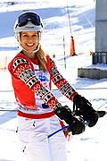 Linda Fäh, Teilnehmerin beim Renzo's Schneeplausch vom 23. Januar 2016 in Vella, Gemeinde Lumnezia.