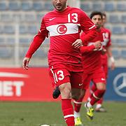 Turkey U21's Rıdvan Simsek during their friendly soccer match Turkey U21 betwen Denmark U21 at Recep Tayyip Erdogan stadium in Istanbul February 29, 2012. Photo by TURKPIX