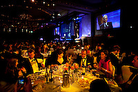 Honorees and attendees mingle at the dinner tables at the 37th International Emmy Awards Gala in New York on Monday, November 23, 2009.  ***EXCLUSIVE***