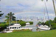 Rainbow, Yacht Club, Kaneohe Bay, Oahu, Hawaii