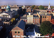 Lancaster, PA, cityscape, Courthouse on Left