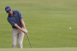 June 21, 2018 - Cromwell, Connecticut, United States - CROMWELL, CT-JUNE 21: Patton Kizzire chips on to the 15th green during the first round of the Travelers Championship on June 21, 2018 at TPC River Highlands in Cromwell, Connecticut. (Credit Image: © Debby Wong via ZUMA Wire)