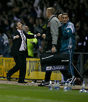 Photo: Steve Bond.<br />Derby County v Luton Town. Coca Cola Championship. 20/04/2007. Billy davies celebrates at the final whistle