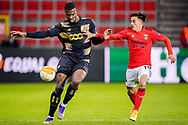 Obbi Oulare of Standard Liege, Franco Cervi of Benfica during the UEFA Europa League, Group D football match between Standard de Liege and SL Benfica on December 10, 2020 at Maurice Dufrasne stadium in Liege, Belgium - Photo Jeroen Meuwsen / Orange Pictures / ProSportsImages / DPPI