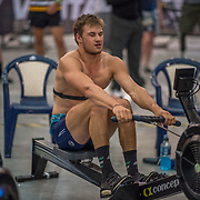 Thomas Russel 5000m Heavyweight 5K race 10:30am<br /> <br /> <br /> www.rowingcelebration.com Competing on Concept 2 ergometers at the 2018 NZ Indoor Rowing Championships. Avanti Drome, Cambridge,  Saturday 24 November 2018 © Copyright photo Steve McArthur / @RowingCelebration