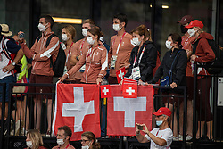 Team Switzerland, Guerdat Steve, Fuchs Martin, Mandli Beat, Bissinger <br /> Olympic Games Tokyo 2021<br /> © Hippo Foto - Tomas Holcbecher<br /> 30/07/2021