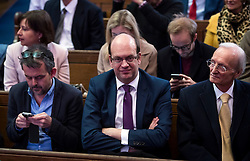 © Licensed to London News Pictures. 28/11/2016. London, UK. UKIP MP MARK RECKELSS (centre) attends the announcement of the new leader of the UK Independence Party (UKIP), at the Emmanuel Centre in Westminster London.. Photo credit: Ben Cawthra/LNP