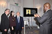 KERRY BROUGHER; DEBORAH HOROWITZ, SID GANIS; BAZ BAMBIGBOYE The Academy Museum of Motion Pictures hosts a lunch and press briefing about the Museum's<br /> 2019 opening in Los Angeles. The Dorchester<br /> Park Lane,  London. 10 December 2018