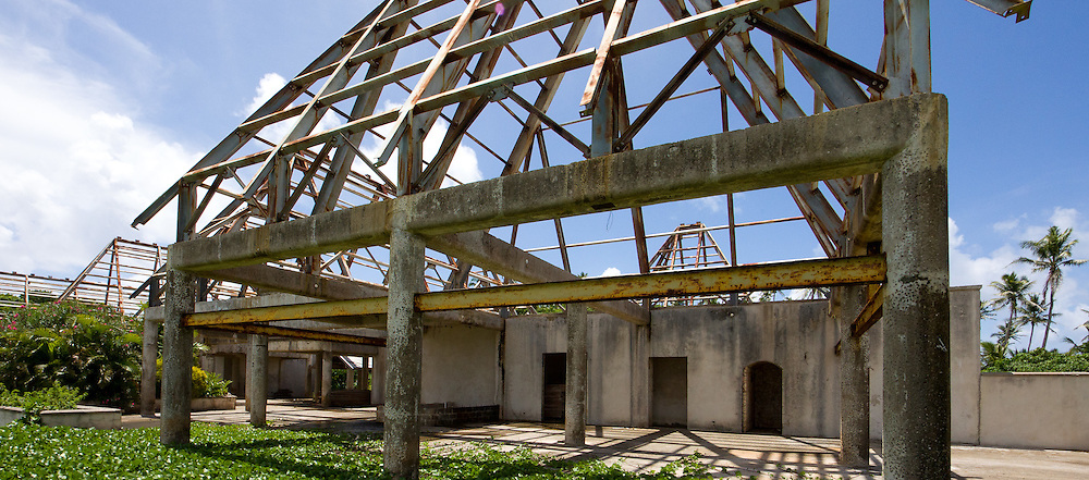 Unfinished Houses with Open Roofs, Fiji