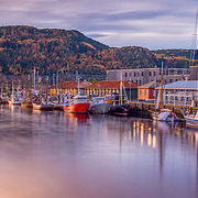 www.aziznasutiphotography.com                        Fosenkaia is located on Brattøra, from Jernbanebrua to Ravnkløpet, named in 1958 by Fosen Trafikkselskap A / S, which until 1992 had its terminal and office building here. Those of the company's boats that went on a route between Fosen and Trondheim went to the dock here. Fosenkaia was from 1880 and well a hundred years ahead an important hub between city and upland. At the end of the 1980s, Fosenkaia had played its role as a focal point when Fosen Trafikkselskap moved its business to the Pirter terminal.<br /> In the western part of Fosenkaia are the veteran boats, see the Boats on Fosenkaia.<br /> Along the quays, more of the ancient kayaks are preserved, p. a nr 4A with VisevertsHuset (ex. Mrs Inger) and nr. 10 Gulskuret with Café Skuret. These were refurbished to the city jubilee in 1997.