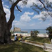 Terrazas, a small seaside fishing  community of Cojimar, Cuba.