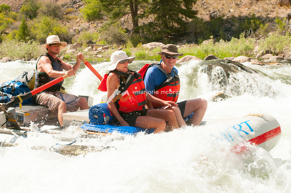 Rafting Tappan Falls on the Middle Fork of the Salmon River, Idaho.