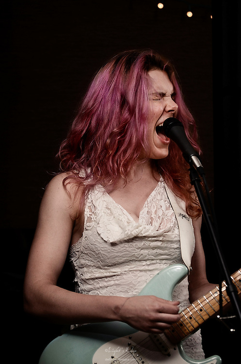 Julia, one half of Fifth Nation, playing at The Bus Stop Music Cafe in Pitman, NJ,