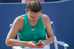 August 19, 2018 - Mason, Ohio, USA - Sunday's final round of the Western and Southern Open at the Lindner Family Tennis Center, Mason, Oh. (Credit Image: © Scott Stuart via ZUMA Wire)