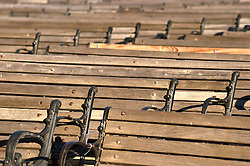 Seating for an outdoor public venue abstracted in a photgraph