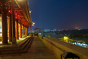 Chao Yang Lou, the old city gate of Jianshu, Yunnan, China at night
