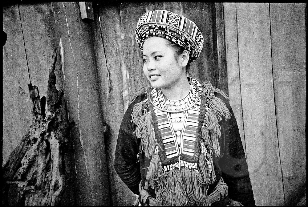 Portrait of a Hmong young woman, Vietnam, Southeast Asia