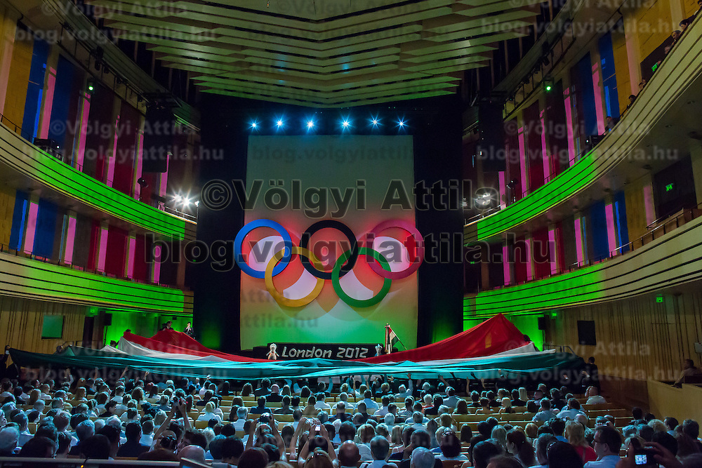 General view of the Swearing in ceremony of the Hungarian Olympic Team that will travel to London in Budapest, Hungary on June 22, 2012. ATTILA VOLGYI