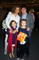 BILL & SUZANNE WYMAN and their daughters JESSE and MATILDA at a party to celebrate the publication of Treasure Islands - Britain's History Uncovered by Bill Wyman and Richard Havers held at The British Museum, London on 21st March 2005.<br />