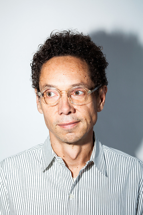 Malcolm Gladwell inside Business Insider's video studios.