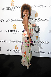 """DeGrisogono """"Love On The Rocks"""" Party - The 70th Annual Cannes Film Festival. 24 May 2017 Pictured: Tina Kunakey. Photo credit: kilmax / MEGA TheMegaAgency.com +1 888 505 6342"""