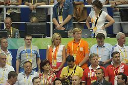 15-08-2008 ZWEMMEN: OS 2008 ZWEMMEN: BEIJING<br /> Prinses Maxima en Prins Willem Alexander op de tribune<br /> ©2008-WWW.FOTOHOOGENDOORN.NL