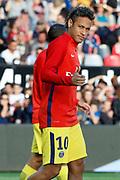 Neymar da Silva Santos Junior - Neymar Jr (PSG) during the French championship L1 football match between EA Guingamp v Paris Saint-Germain, on August 13, 2017 at the Roudourou stadium in Guingamp, France - Photo Stephane Allaman / ProSportsImages / DPPI