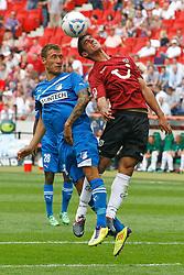 06.08.2011,AWD-Arena, Hannover, GER, 1.FBL, Hannover 96 vs TSG 1899 Hoffenheim, im Bild Kopfballduell zwischen Fabian Johnson (Hoffenheim #16) und Lars Stindl (Hannover #28).// during the match from GER, 2.FBL,  Hannover 96 vs TSG 1899 Hoffenheim on 2011/08/06, AWD-Arena, Hannover, Germany..EXPA Pictures © 2011, PhotoCredit: EXPA/ nph/  Schrader       ****** out of GER / CRO  / BEL ******