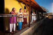Sabara_MG, Brasil...Senhoras na varanda do Lar do Idoso Jose Vercosa Junior em Sabara, Minas Gerais...Elderly ladies on the porch of Home for the Elderly Jose Junior Vercosa in Sabara, Minas Gerais...Foto: LEO DRUMOND / NITRO