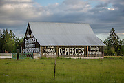 An old barn in Toldeo, Washington advertises a medical remedy. © Michael Durham / www.DurmPhoto.com