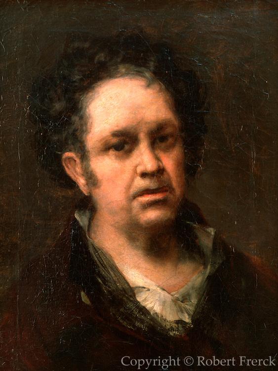 SPAIN, MADRID, PRADO MUSEUM 'Self-Portrait of Goya' painted in 1815 by Francisco de Goya (1746-1828)