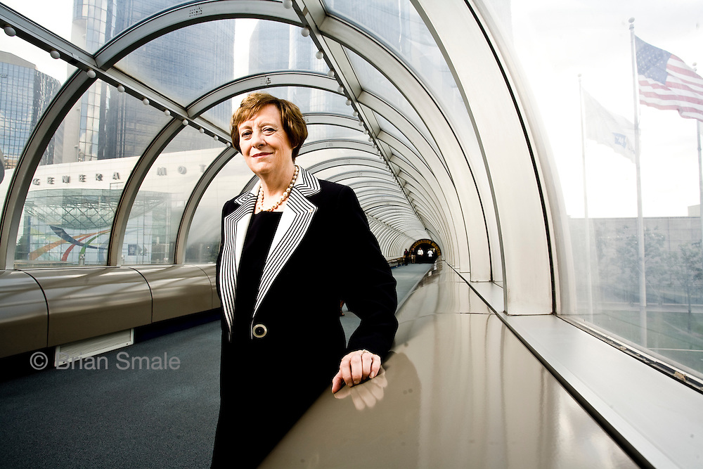 Maureen Kempston Darkes, (retired) Group Vp of General Motors Latin America, Africa, and Middle East. Photographed at General Motors Headquarters in Detroit for Fortune Magazine.