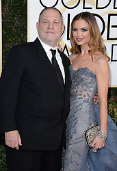 Harvey Weinstein and Georgina Chapman attend the 74th Annual Golden Globe Awards at the Beverly Hilton in Beverly Hills, Los Angeles, CA, USA, on January 8, 2017. Photo by Lionel Hahn/ABACAPRESS.COM  | 577401_109 Los Angeles Etats-Unis United States