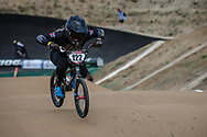#122 (FEATHERSTONE Ellie) GBR at Round 3 of the 2020 UCI BMX Supercross World Cup in Bathurst, Australia.