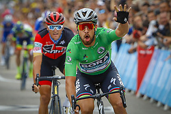 July 20, 2018 - Valence, France - VALENCE, FRANCE - JULY 20 : SAGAN Peter (SVK) of Bora - Hansgrohe during stage 13 of the 105th edition of the 2018 Tour de France cycling race, a stage of 169.5 kms between Bourg d'Oisans and Valence on July 20, 2018 in Valence, France, 20/07/18 (Credit Image: © Panoramic via ZUMA Press)