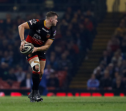 Dragons' Elliot Dee<br /> <br /> Photographer Simon King/Replay Images<br /> <br /> Guinness PRO14 Round 21 - Dragons v Scarlets - Saturday 28th April 2018 - Principality Stadium - Cardiff<br /> <br /> World Copyright © Replay Images . All rights reserved. info@replayimages.co.uk - http://replayimages.co.uk