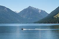 Boating on Wallowa Lake Joseph, Oregon
