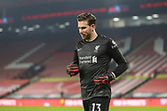 Portrait of Liverpool goalkeeper Adrian (13) during the Premier League match between Sheffield United and Liverpool at Bramall Lane, Sheffield, England on 28 February 2021.